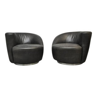 Vladimir Kagan Nautilus Swivel Chairs For Sale
