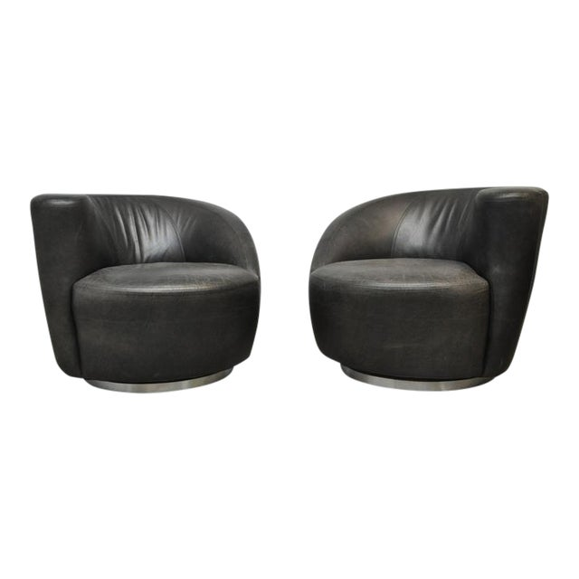 Vladimir Kagan Nautilus Swivel Chairs For Sale