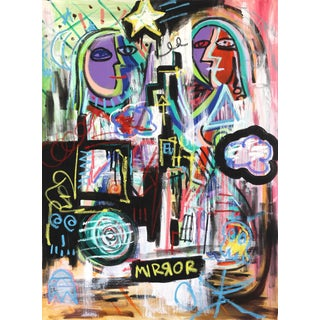 """Andrew Lyko """"Clone"""" Original Contemporary Painting For Sale"""
