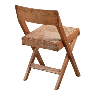 Pierre Jeanneret Numbered Chandigarh High Court Library Chair For Sale