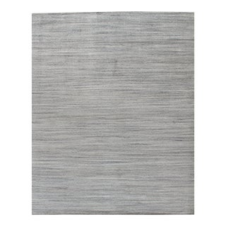 Simplicity Beige Blue Contemporary Handwoven Rug 10' X 14' For Sale
