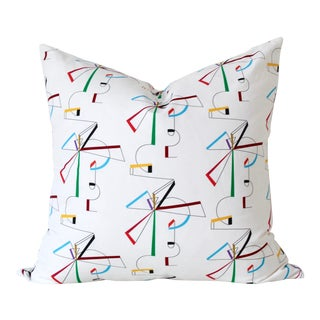"Contemporary Bow Pillow Cover - 22"" For Sale"
