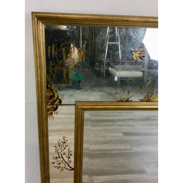 Asian Made Goods Asian Chinoiserie Eloise Wall Mirror For Sale - Image 3 of 7