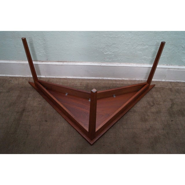 Mid Century Modern Studio Made Triangle Low Table For Sale In Philadelphia - Image 6 of 10