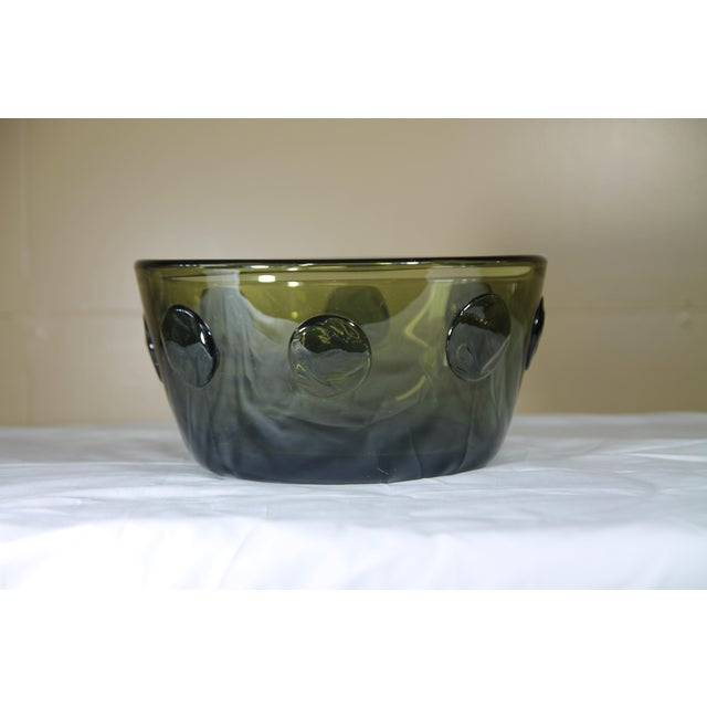 Severin Brody bowl. Larger size is rarely seen. Signed on the bottom of bowl.