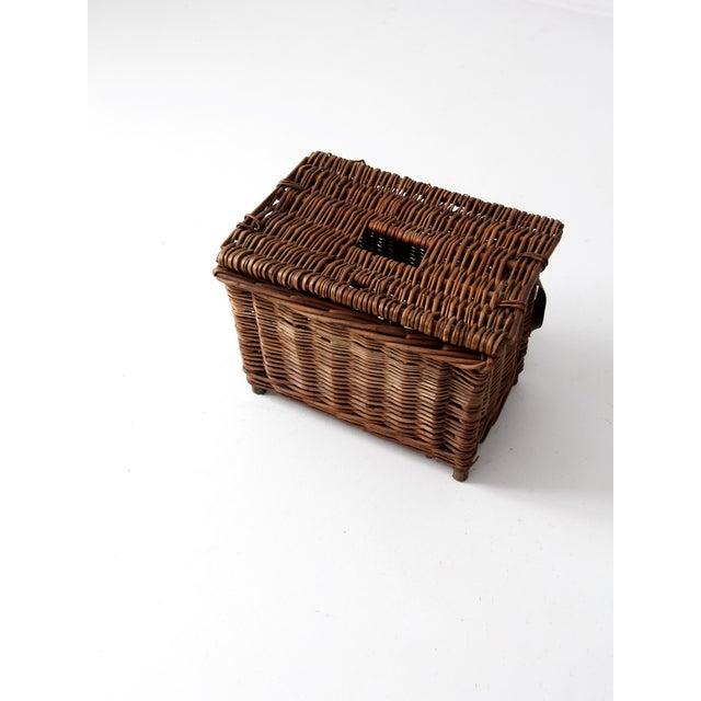 Antique Wicker Fishing Basket - Image 7 of 11