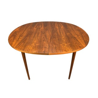 """Vintage Mid Century Modern Walnut """"Declaration"""" Dining Table by Drexel For Sale"""