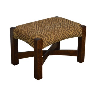 Stickley Mission Collection Oak Eastwood Footstool For Sale