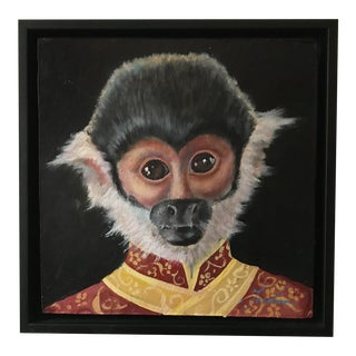 Squirrel Monkey Portrait, Brenda Gordon For Sale