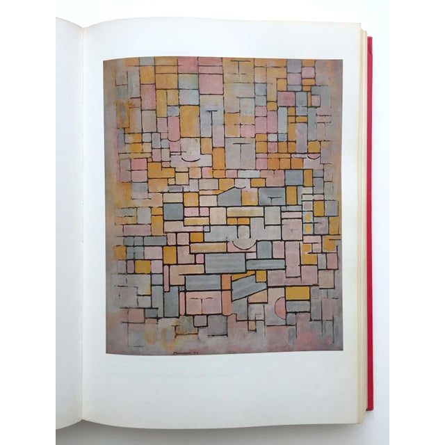 """Paper """" Piet Mondrian - Life and Work """" Rare Vintage 1956 1st Edtn Collector's Iconic Large Volume Lithograph Print Modernist Art Book For Sale - Image 7 of 13"""