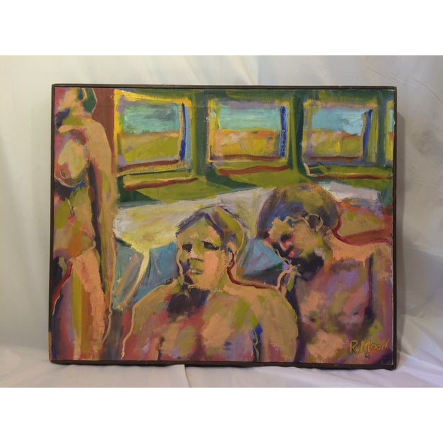 """""""One and Two,"""" Oil Painting Circa 1966 - Image 2 of 7"""