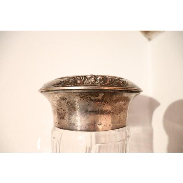 Art Nouveau 20th Century Italian Art Nouveau Crystal and Silver Vase, 1920s For Sale - Image 3 of 7