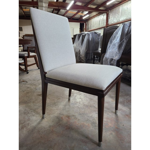 Henredon Furniture David Kleinberg Talice Upholstered Dining Chair Sale includes one side chair as pictured. Clean lined...