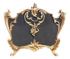 Image of Gold Fireplace Screens and Fenders