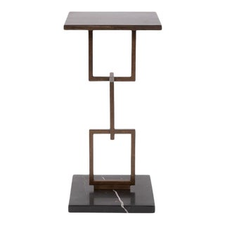 Contemporary Kenneth Ludwig Chicago Eslabon Metal Side Table For Sale