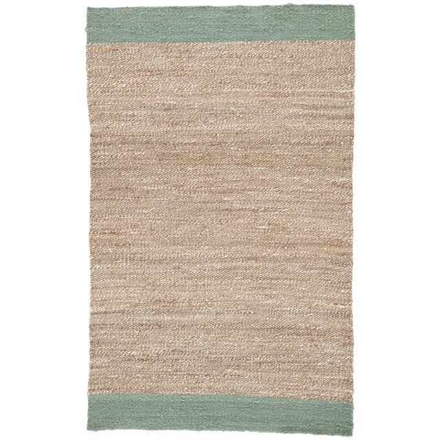 Jaipur Living Mallow Natural Bordered Tan & Blue Area Rug - 9' X 12' For Sale