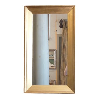 Antique Wide Molding Giltwood Mirror For Sale