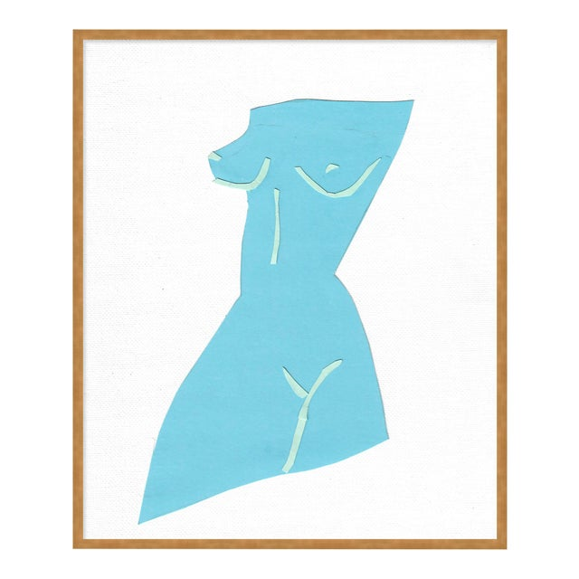 Fair Lady 1 by Virginia Chamlee in Gold Framed Paper, Medium Art Print For Sale