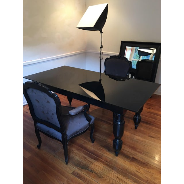 Elisabeth Weinstock Black Table Desk - Image 3 of 6
