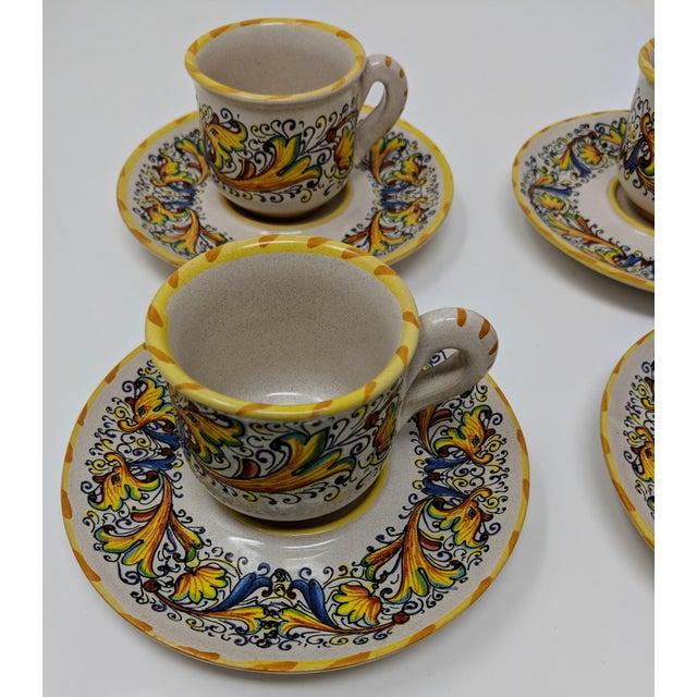 Demitasse Cup & Saucer Set - Service for 4 For Sale - Image 4 of 8