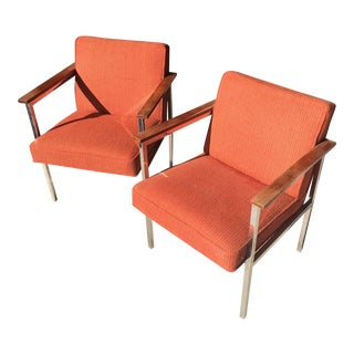 Vintage Mid-Century Steelcase Armchairs - a Pair