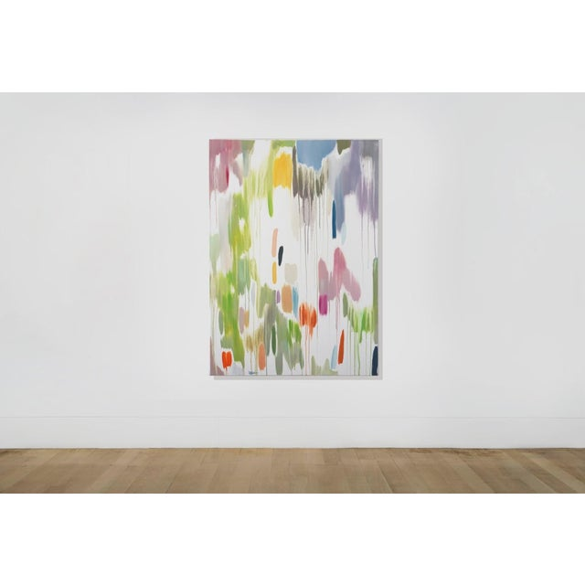 """""""Tropical Vines Palette"""" is an abstract painting diptych by Spanish artist Natalia Roman. It is a beautiful series of..."""