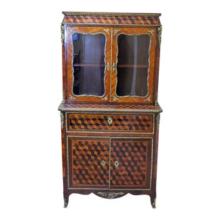 Louis XVI Style Cabinet With Writing Top For Sale