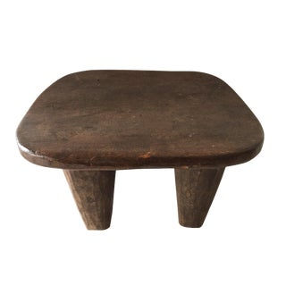 "African Senufo Wood Milk Stool I . Coast 12.5"" W by 7.5"" H For Sale"