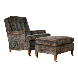 Restored Lounge Chair and Ottoman by John Stuart For Sale