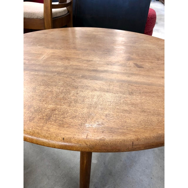 Mid 20th Century 1950s Mid-Century Modern Heywood Wakefield Lazy Susan Spider Leg Coffee Table For Sale - Image 5 of 6