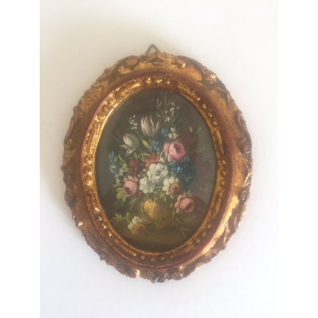 Giltwood Vintage Mid-Century Florentine Gilt Framed Art Pieces- Set of 5 For Sale - Image 7 of 9