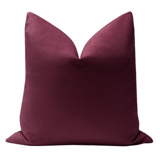 "22"" Aubergine Velvet Pillows - a Pair Preview"