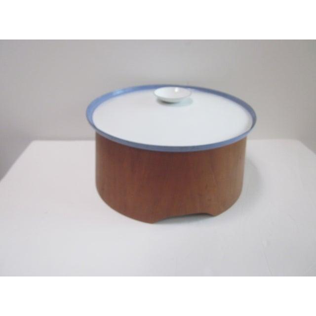 Large Teak Swedish Enamel Pot, Cathrineholm Style For Sale - Image 10 of 11