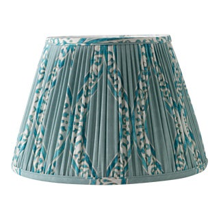"""Swell in Blue Mineral 14"""" Lamp Shade, Robin's Egg Blue For Sale"""