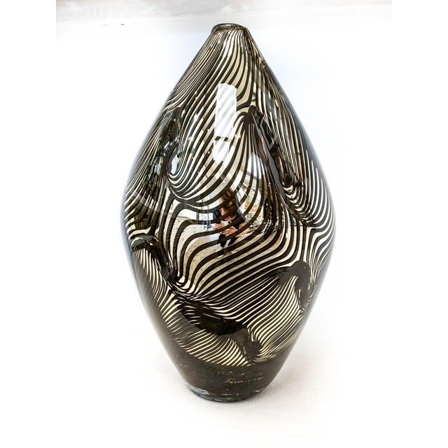 Alberto Donà 21st Century Murano 24k Gold Giungla Italian Vase by Dona For Sale - Image 4 of 7