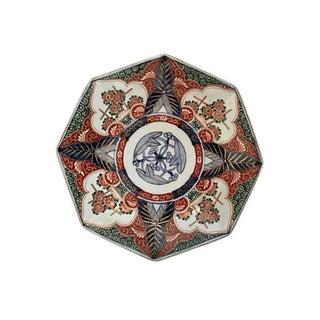 Japanese Imari Porcelain Octagonal Charger For Sale