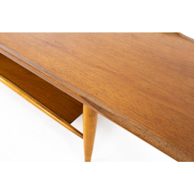 Grete Jalk Style Mersman Mid Century Surfboard Mahogany Coffee Table For Sale - Image 10 of 11