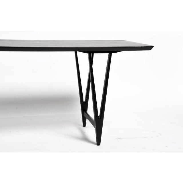 Mid Century Modern Painted Black Teakwood Coffee Table For Sale - Image 10 of 13