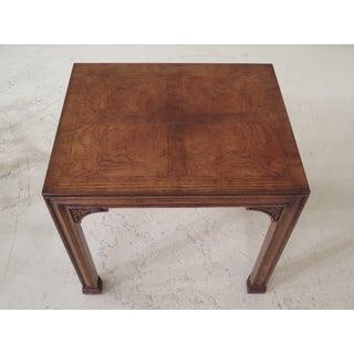 1980s Chippendale Henredon Oak & Walnut End Table Preview