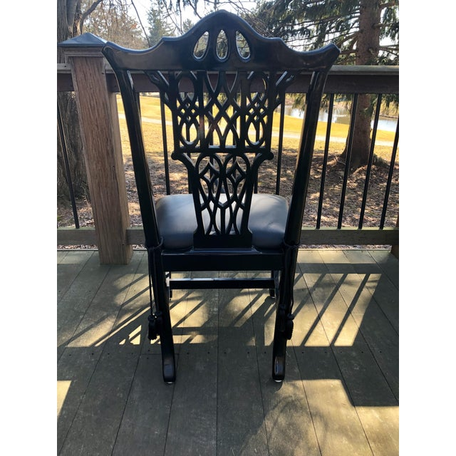 1980s Vintage Chinese Chippendale Pagoda Chairs- Set of 6 For Sale - Image 4 of 11