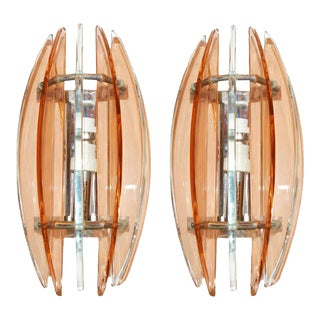 Italian Sconces by Veca - A Pair For Sale
