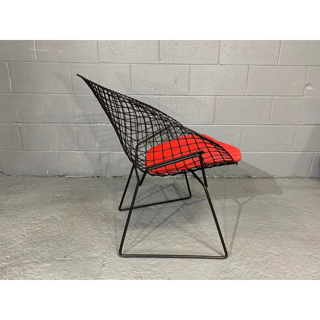 Harry Bertoia for Knoll Mid-Century Modern Diamond Chair With Red Seat C. 1952 For Sale - Image 9 of 13