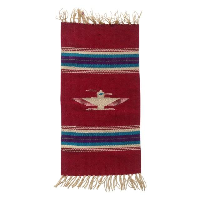 Handwoven Navajo Style Wall Hanging Rug - Image 1 of 11