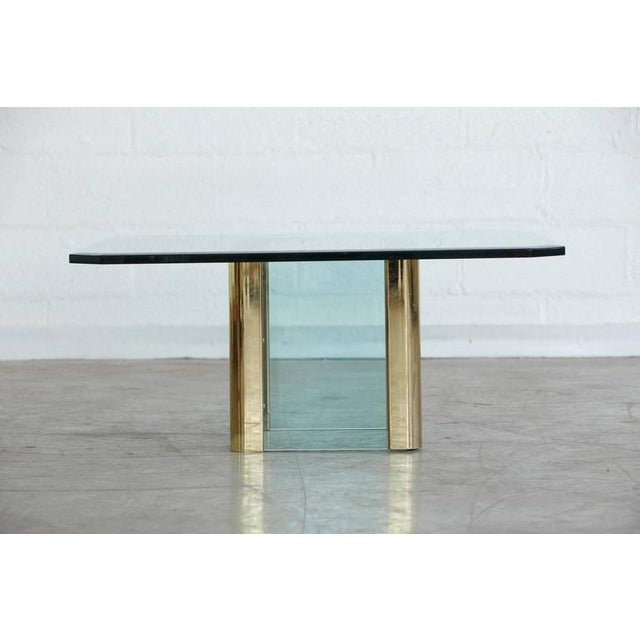 Brass Coffee Table with an Octagonal Beveled Glass Top by Leon Rosen for Pace - Image 5 of 9