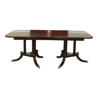 Henkel Harris Model 2276 Flame Mahogany Dining Room Table For Sale