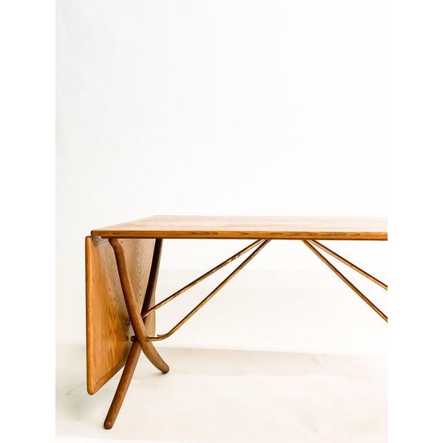 Hans Wegner Andreas Tuck Oak Dining Table For Sale - Image 9 of 11