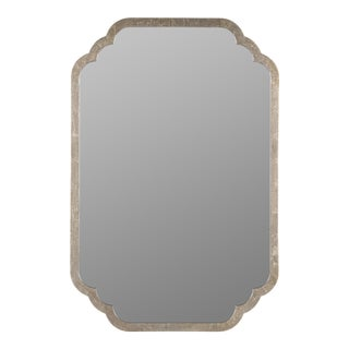 Suze Wall Mirror, Silver Leaf For Sale