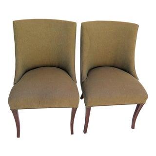 1950's Slipper Chairs - a Pair