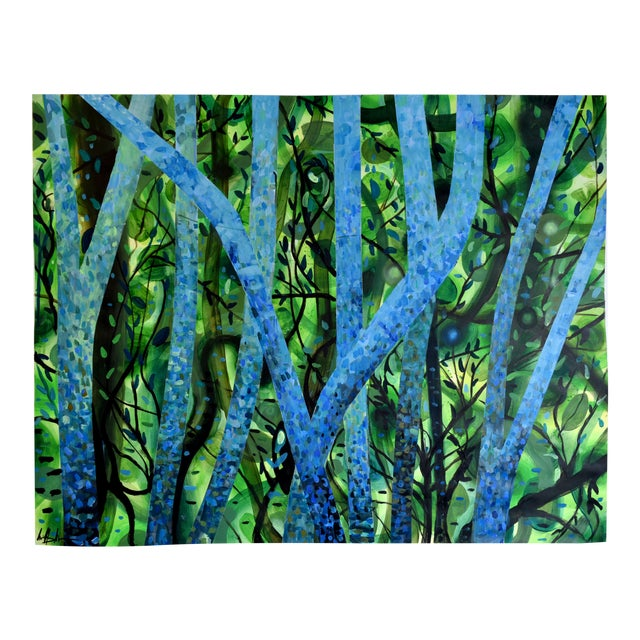 """Summertree Fantasia"" Original Acrylic Painting - Image 1 of 11"