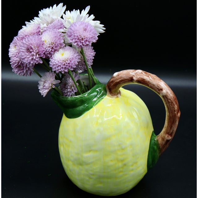 Canary Yellow Mid 20th Century Vintage Italian Lemon Pitcher For Sale - Image 8 of 12